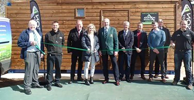 From left to right:  Chris Lilley (Club Accountant, PRUFC), Tony Ripley (Commercial Manager, Atkinson's), Edward Jones (General Manager, Stobart Biomass), April Stobart (Business Development Administrator, Stobart Biomass), Stuart Mills (President, PRUFC)