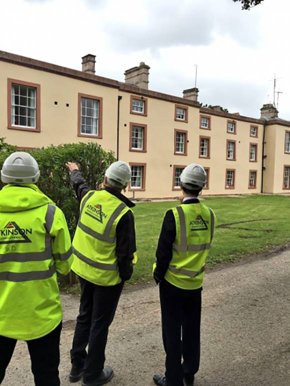Local MP Rory Stewart visited our project at the Outward Bound Centre at Watermillock, where a number of our apprentices are currently working.