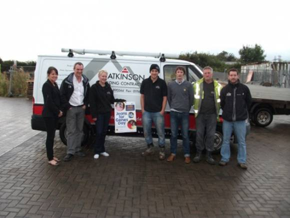 Sonia, Neil, Jody, Tom, Richard, Russell and Martyn taking part in Jeans for Genes 2012