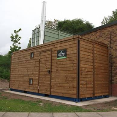 Evoworld P200 Eco containerised pellet boiler