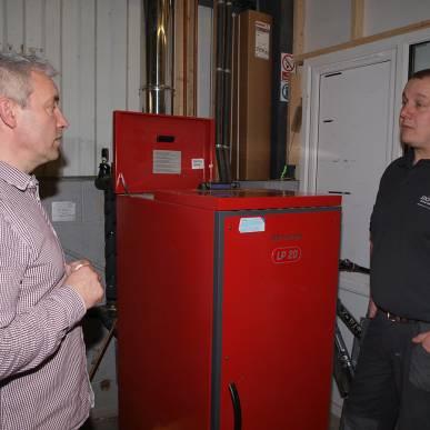 Extraflame manual feed pellet boiler