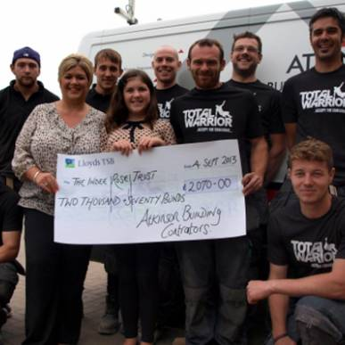 £2100 raised for The Indee Rose Trust