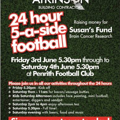 24 Hour 5-a-side Football in aid of Susan's Fund