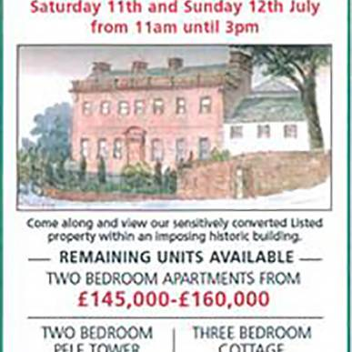 Hutton Hall Open Viewing 11th and 12th July 2015