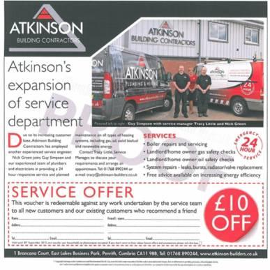£10 off Service Offer