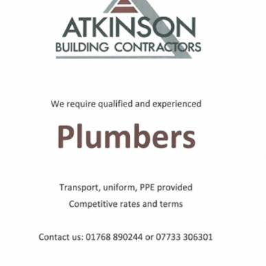 Experienced Plumbers Required