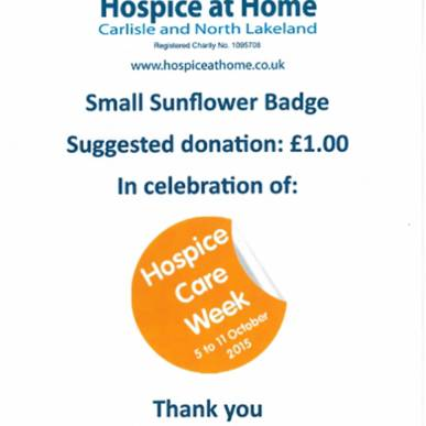 Hospice Care Week commencing 5th October 2016