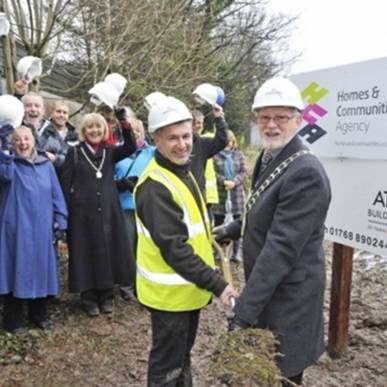 Construction starts for Keswick's affordable homes