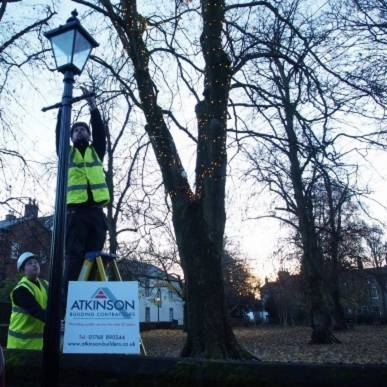 Atkinson Building Contractors are proud to provide the Christmas Tree and lights by the band stand