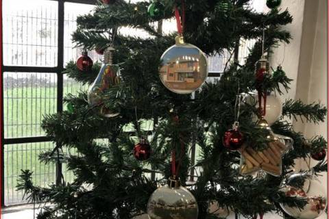 CHRISTMAS TREE AT ST ANDREW'S CHURCH
