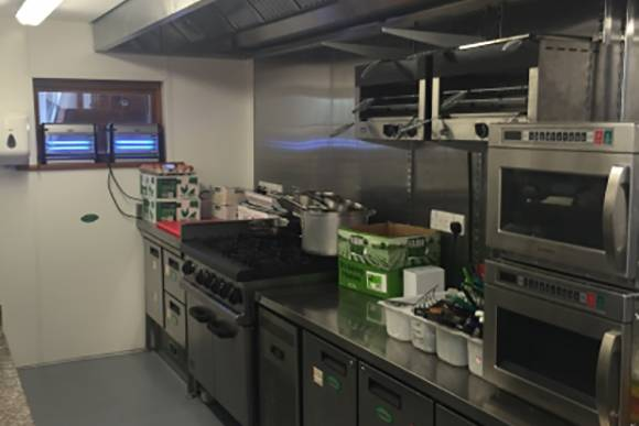 The cafe kitchen at Nichol End