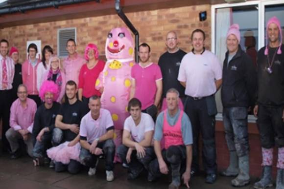 Staff rasied money for Breast Cancer Research