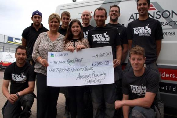 The Builders Bums present the cheque